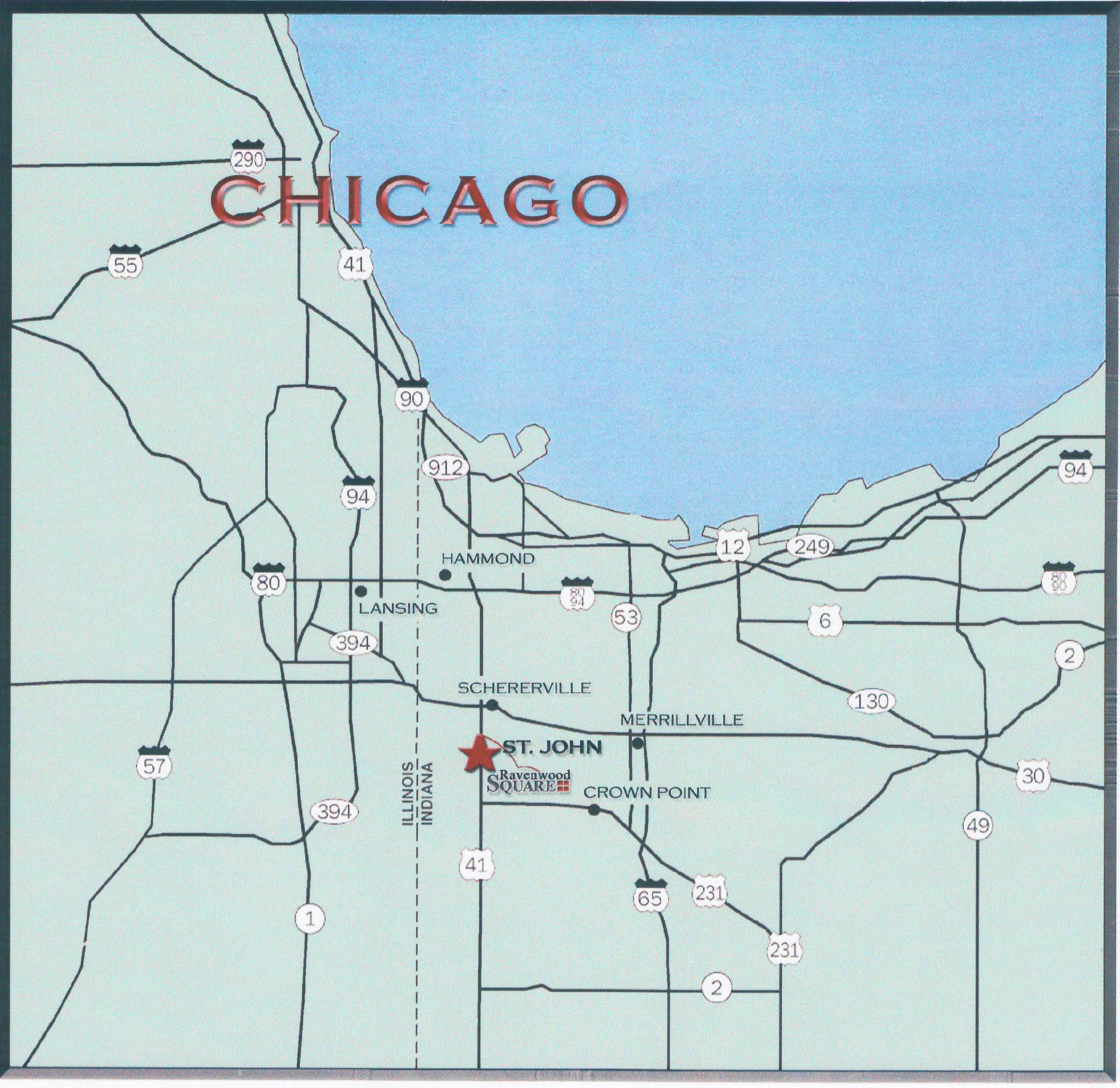 Map Of Northwest Indiana Ravenwood Square – Indiana & Chicago Commercial Leasing Property Map Of Northwest Indiana